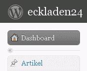 Ausschnitt: WordPress Backend