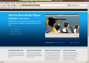 RealPlayer - Media Player for Linux - Free Download - Mozilla Firefox