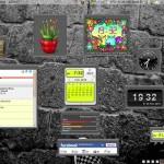Gadgets auf dem Ubuntu-Desktop