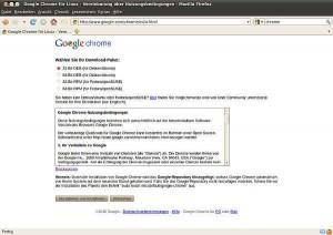 Google Chrome für Linux - Vereinbarung über Nutzungsbedingungen