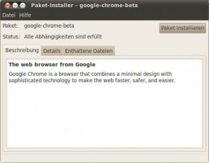 Paket-Installer - google-chrome-beta