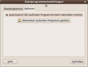 Startprogrammeinstellungen