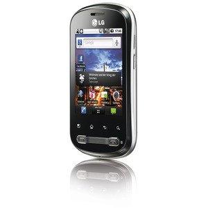 LG P350 Optimus Me Mobiltelefon (8,1 cm (3,2 Zoll) Display, Touchscreen, Android OS, 3 Megapixel kamera) silber