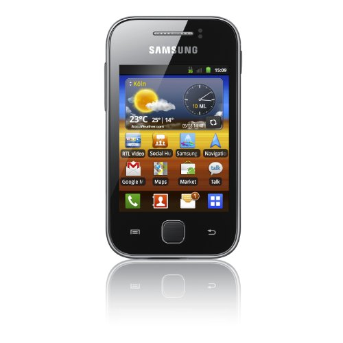 Samsung Galaxy Y S5360 Smartphone (7,62 cm (3 Zoll) Display, Touchscreen, 2 Megapixel Kamera, Android 2.3) metallic-gray
