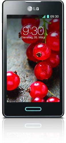 LG Optimus L5 II E460 Smartphone (10,2 cm (4 Zoll) Touchscreen, 1GHz, 512MB RAM, 5 Megapixel Kamera, Android 4.1) metallisch-schwarz