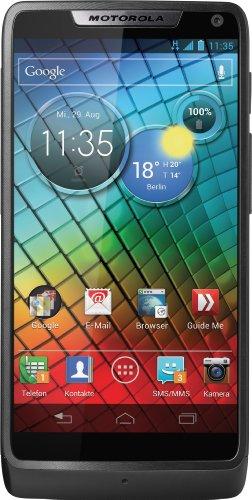 Motorola RAZR i Android Mobiltelefon (10,9 cm (4,3 Zoll) Touchscreen, 8 Megapixel Kamera, 8GB Speicher, micro-USB, Android Jelly Bean) schwarz