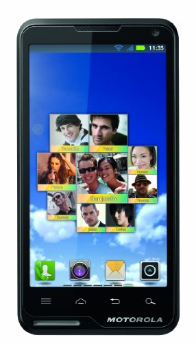 Motorola Motoluxe Mobiltelefon (10,2 cm (4 Zoll) FWVGA-Touchscreen, 8 Megapixel Kamera, WiFi, Android 2.3) schwarz