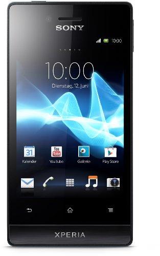 Sony Xperia miro Android Mobiltelefon (8,9 cm (3,5 Zoll) Touchscreen, 5 Megapixel Kamera, Android 4.0) schwarz