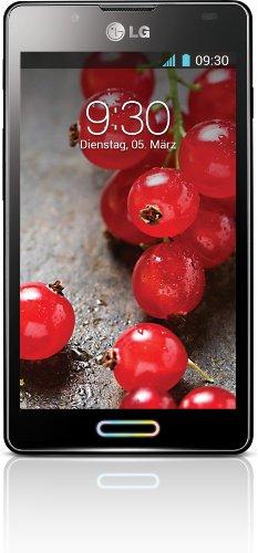 LG P710 Optimus L7 II Mobiltelefon (10,9 cm (4,3 Zoll) Touchscreen, 1GHz, Dual-Core, 4GB, 768MB RAM, 8-Megapixel-Kamera, Android 4.1) metallisch-schwarz