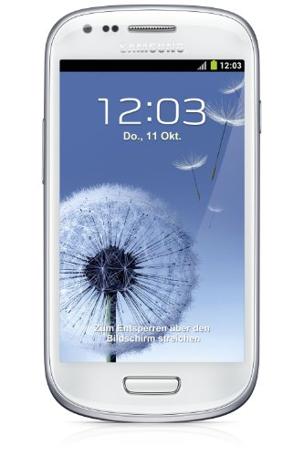 Samsung Galaxy S3 mini I8190 Android Smartphone (10,2 cm (4 Zoll) AMOLED Display, Dual-Core, 1GHz, 1GB RAM, 5 Megapixel Kamera, Android 4.1) marble-white