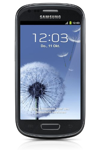 Samsung Galaxy S3 mini I8190 Mobiltelefon (10,2 cm (4 Zoll) AMOLED Display, Dual-Core, 1GHz, 1GB RAM, 5 Megapixel Kamera, Android 4.1) sapphire-black
