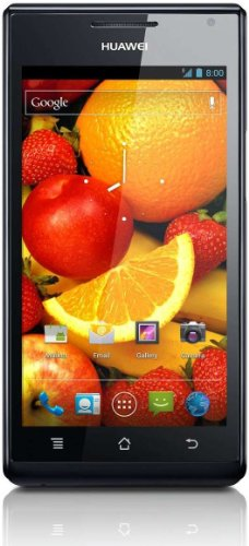 Huawei Ascend P1 Smartphone (10,9 cm (4,3 Zoll) Touchscreen, 8 Megapixel Kamera, Android 4.0) schwarz
