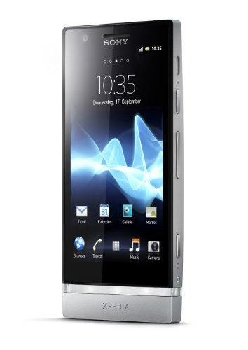 Sony Xperia P Android Smartphone (10,2 cm (4 Zoll) Touchscreen, 8 Megapixel Kamera, Android 4.0 OS) silber